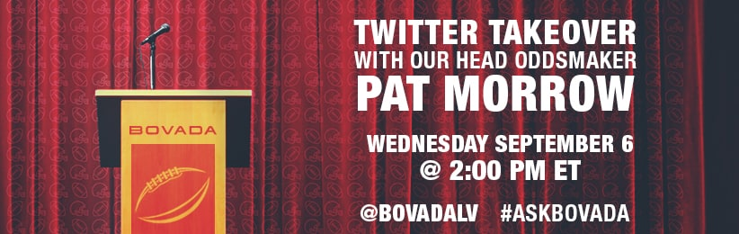 Head Oddsmaker at Bovada discussing Odds and More on Twitter