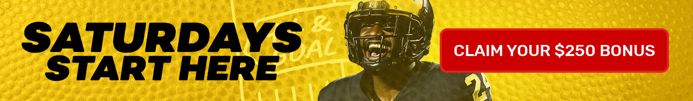 Claim your $250 Welcome Bonus and Bet on College Football